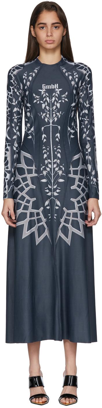 Gmbh Dresses Navy Digital Nettle Elif Dress