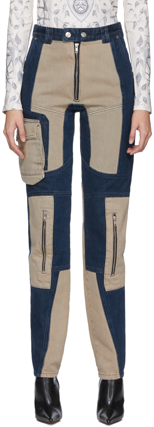 Gmbh Jeans Navy & Beige Patchwork Antje Jeans