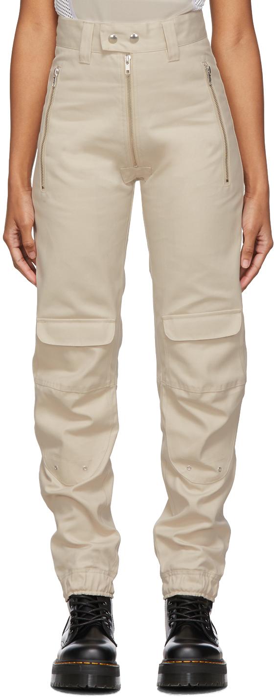Gmbh Pants Beige Yolanda Biker Trousers