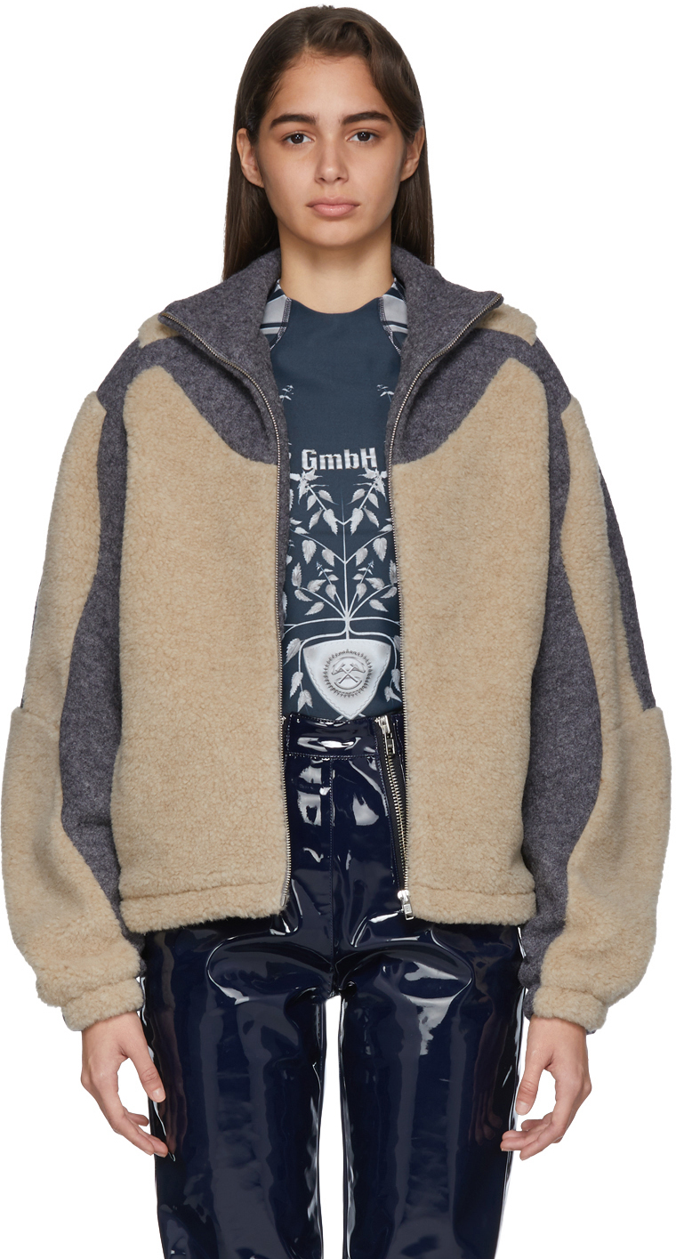 Gmbh Jackets Beige & Grey Fleece Ecran Jacket