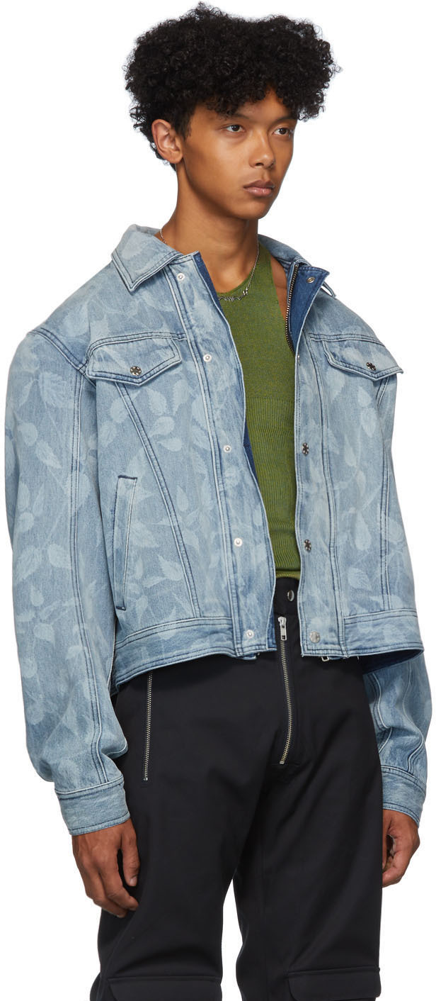 Gmbh Jackets Blue Denim Lazered Nettle Jacket