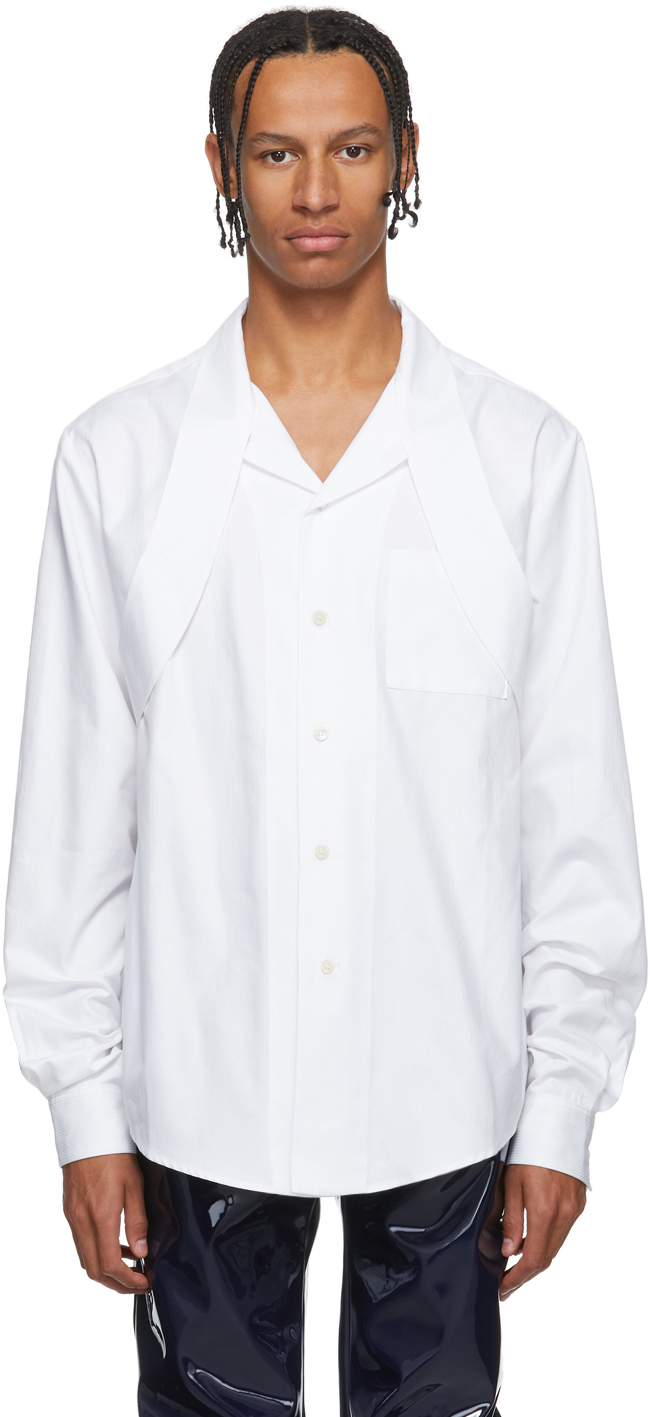 Gmbh T-shirts White Extended Collar Shirt
