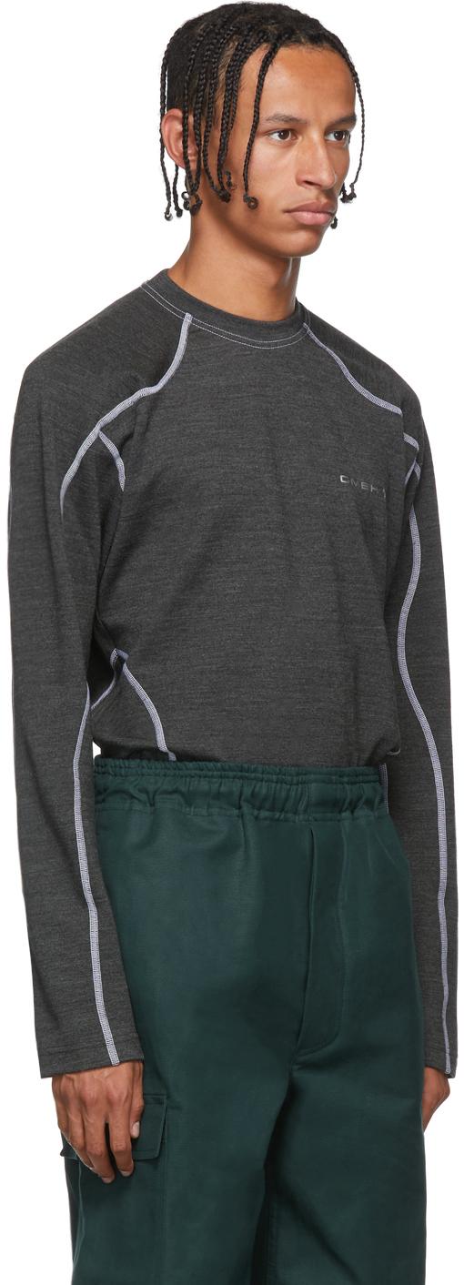 Gmbh Sweaters Grey Asia Mono Crewneck Sweater