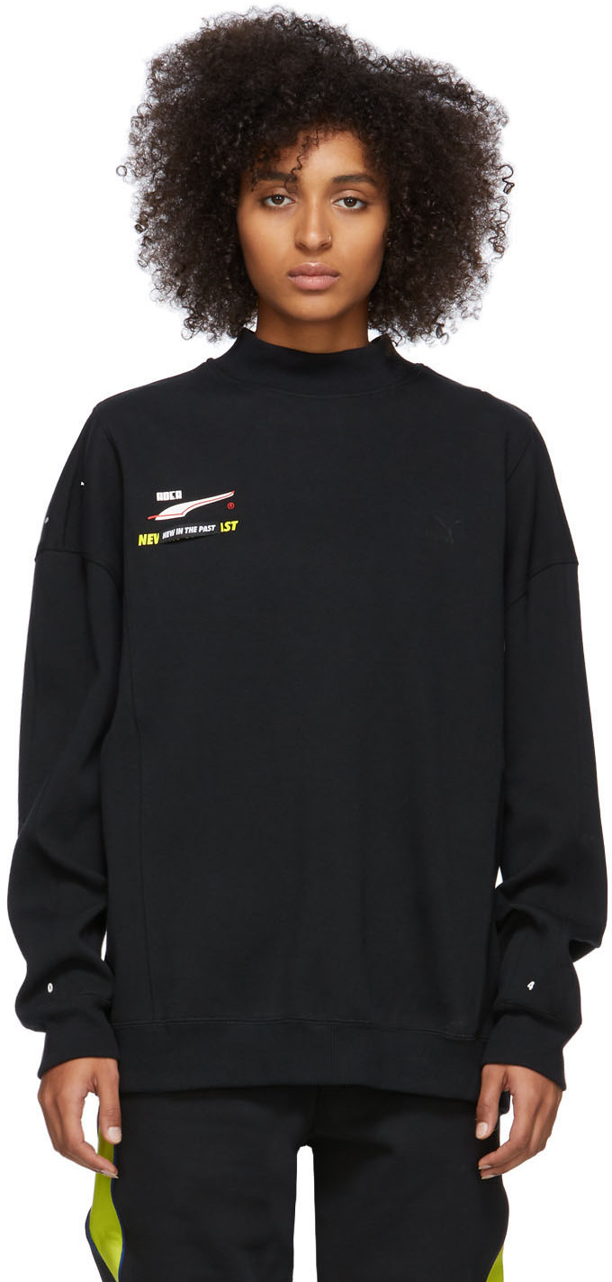 Ader Error T-shirts Black Puma Edition Crewneck Sweatshirt