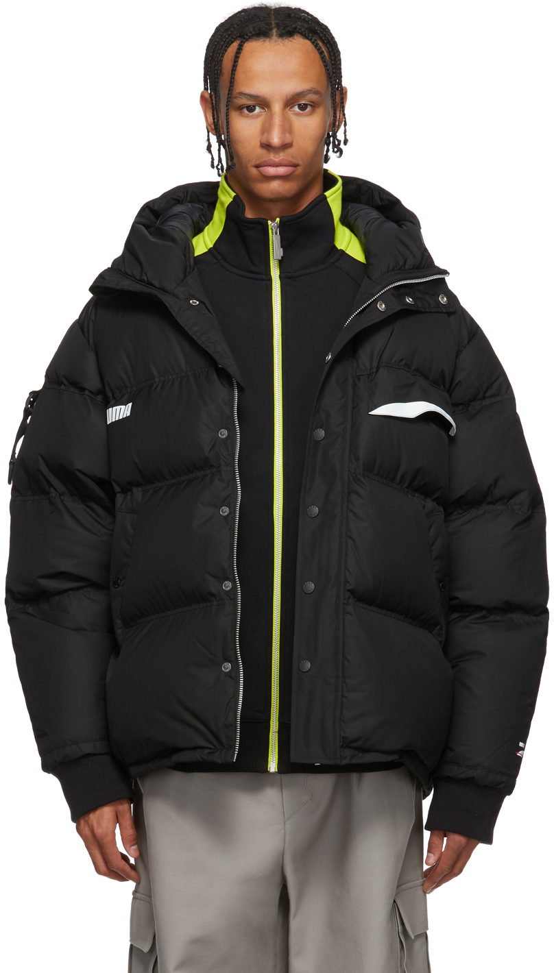 Ader Error Jackets Black Puma Edition Down Puffer Jacket