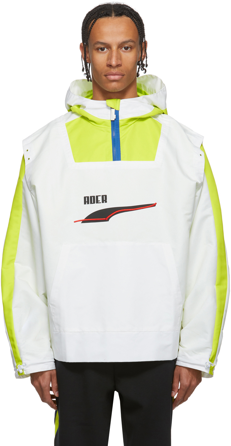 Ader Error Jackets White Puma Edition Windbreaker Jacket