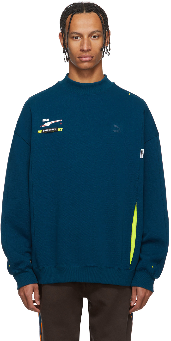 Ader Error T-shirts Blue Puma Edition Crew Sweatshirt