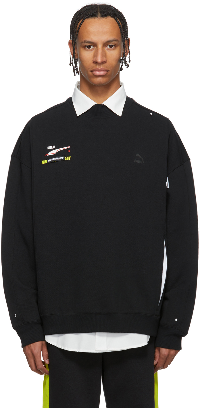 Ader Error T-shirts Black Puma Edition Crew Sweatshirt