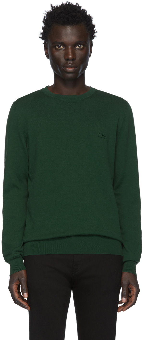 Boss Sweaters Green Pacas-L Sweater