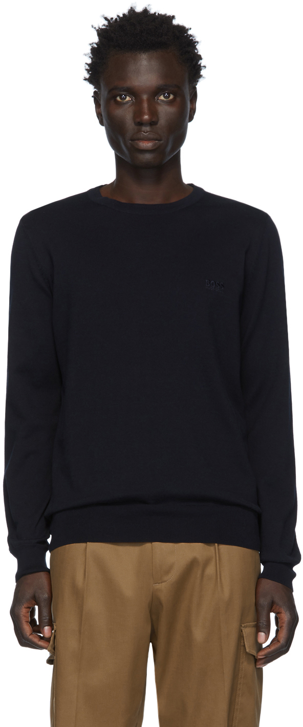 Boss Sweaters Navy Pacas-L Sweater