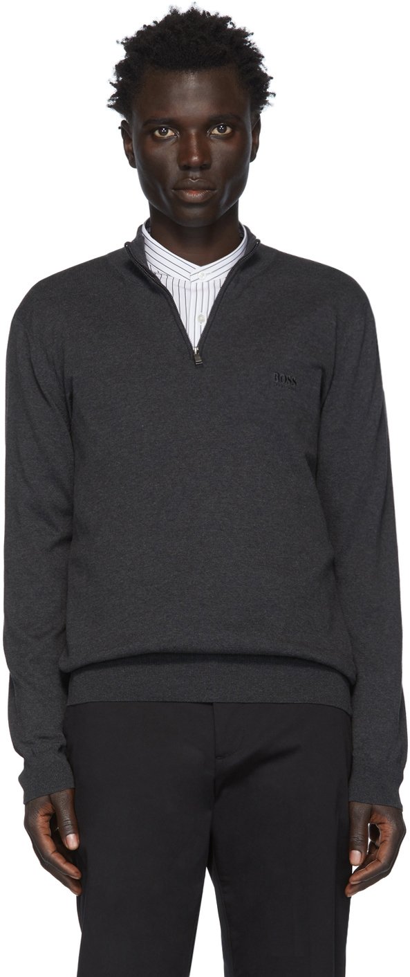Boss Sweaters Grey Padro-L Pullover Sweater