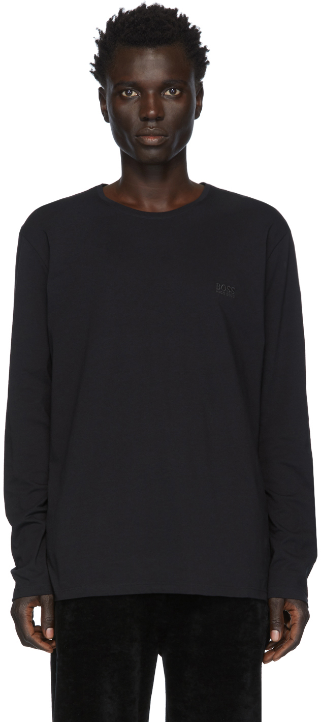 Boss T-shirts Black Mix & Match Long Sleeve T-Shirt