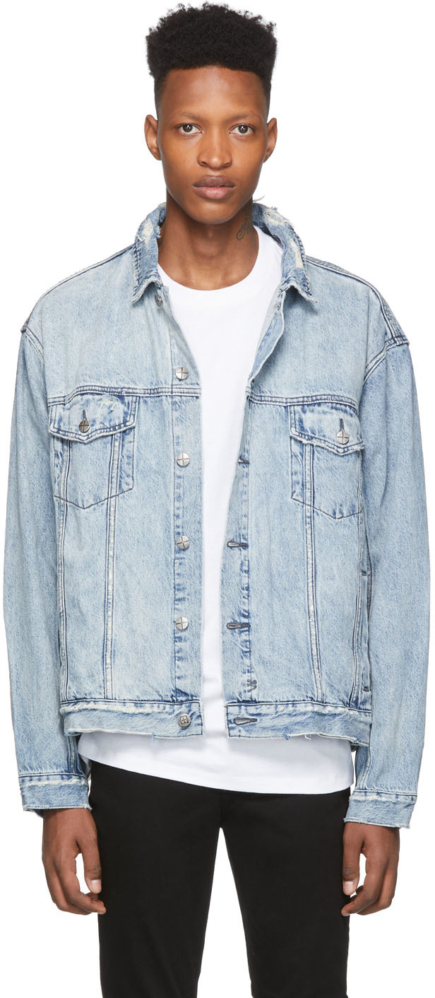 Ksubi Blue Denim Oh G Acid Trip Trash Jacket