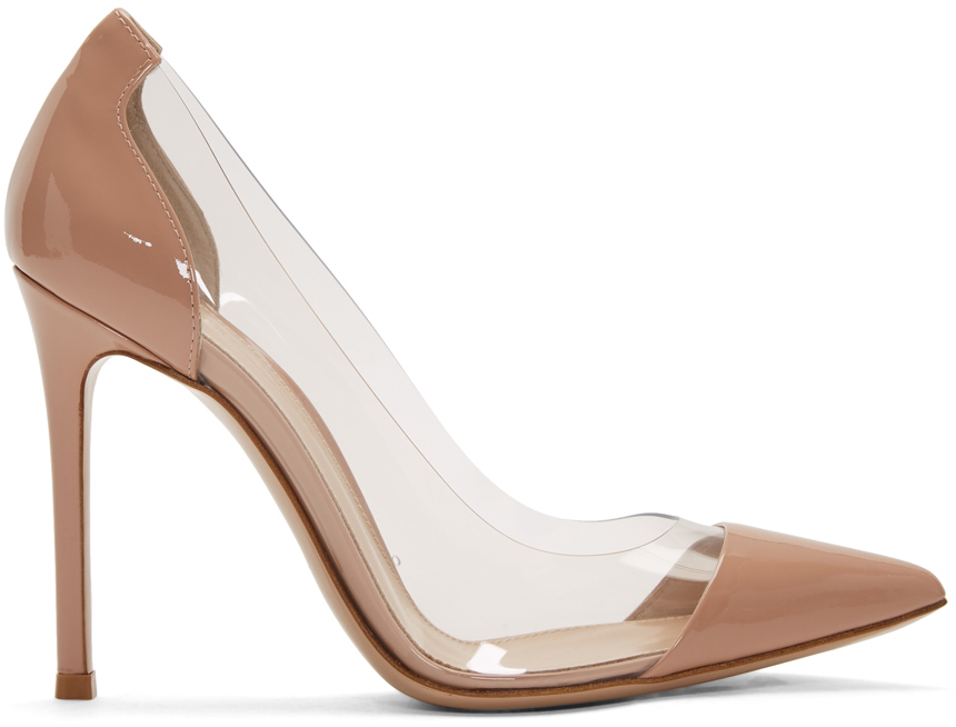 Gianvito Rossi Shoes Pink Patent Plexi 105 Heels