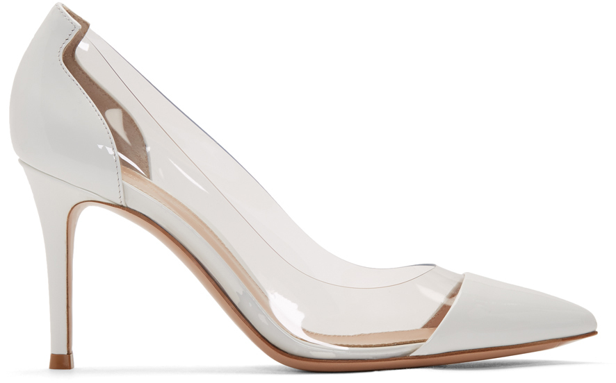 Gianvito Rossi Shoes White Patent Plexi 85 Heels