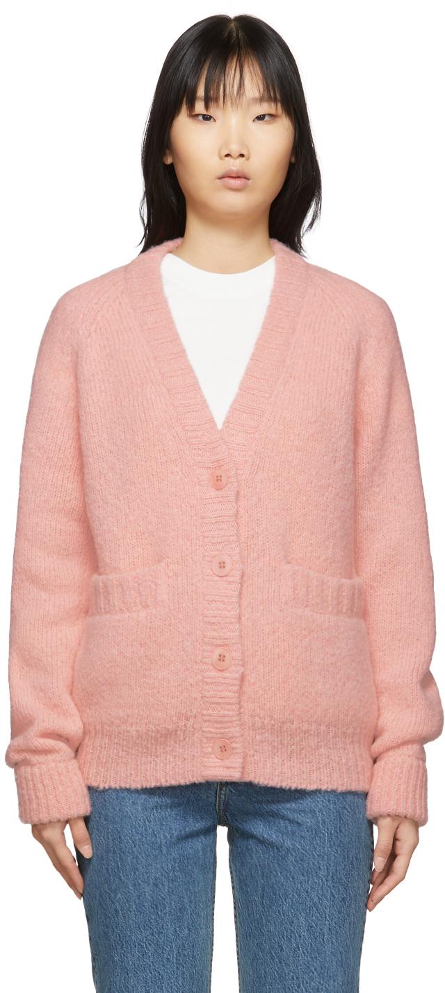 Tibi Accessories Pink Alpaca Cozette Cardigan