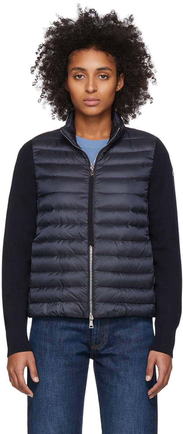 Moncler Jackets Navy Down Jacket