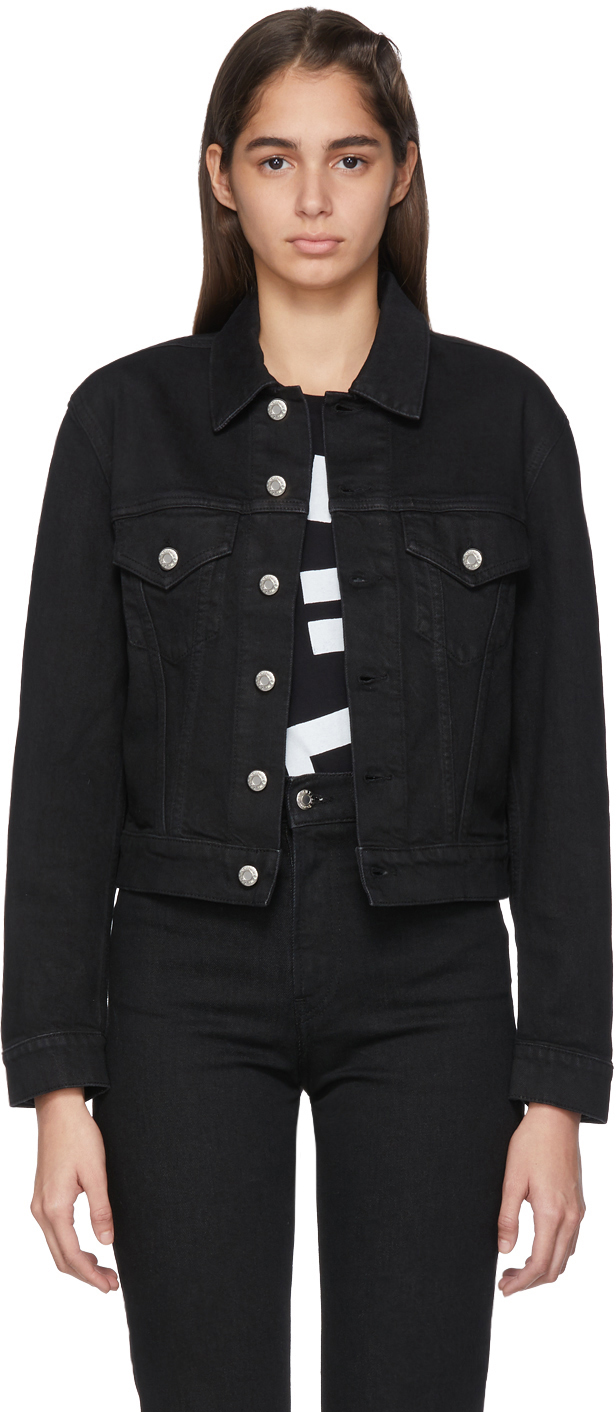 Helmut Lang Jackets Black Denim Masc Trucker Jacket