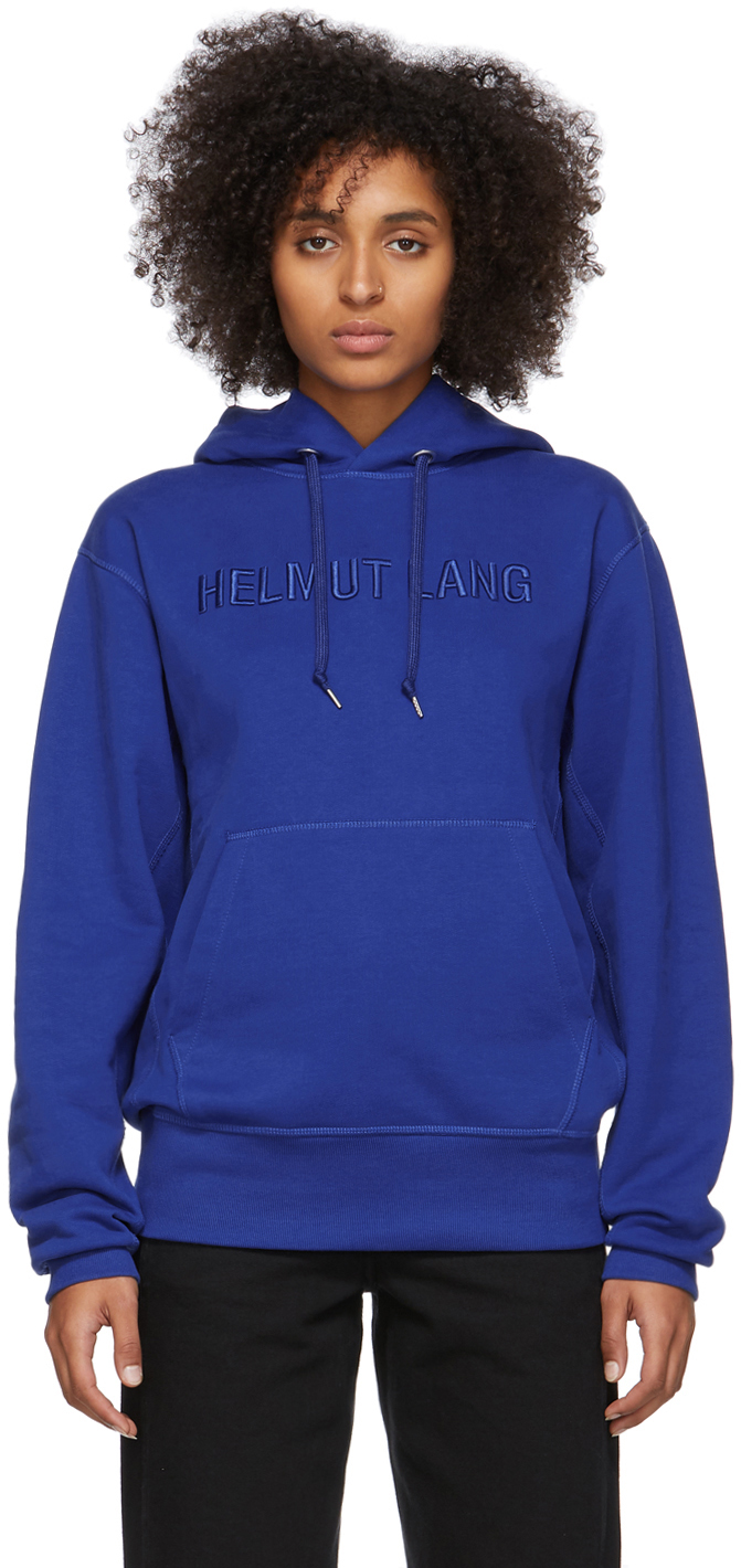 Helmut Lang Accessories Blue Standard Hoodie