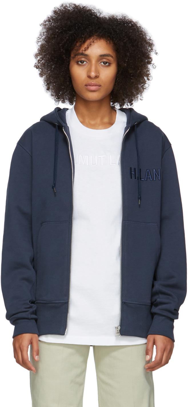 Helmut Lang Accessories Navy Standard Zip Hoodie