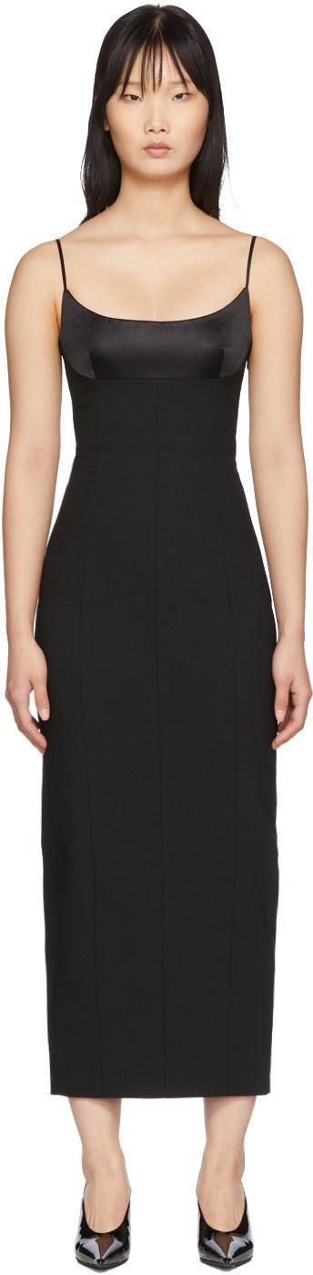 Alexander Wang Dress Black Tailored Cami Long Dress
