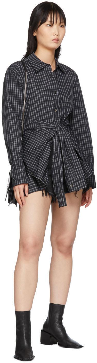 Alexander Wang Shorts Black Denim Bite Shorts