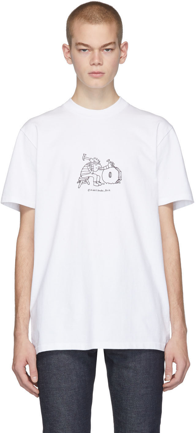 A.p.c. T-shirts White JJJJound Edition Rough T-Shirt