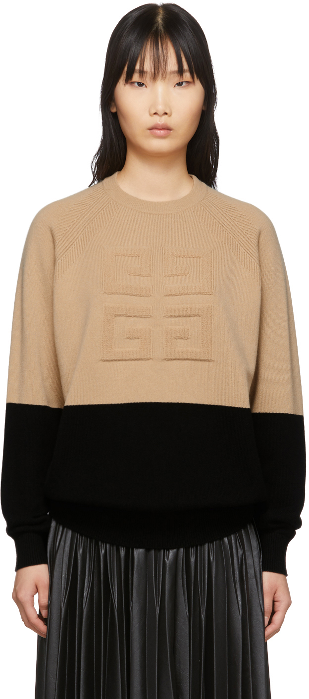 Givenchy Sweaters Beige & Black 4G Sweater