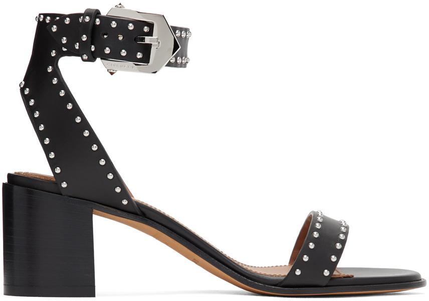 Givenchy Shoes Black Studded Elegant Sandals