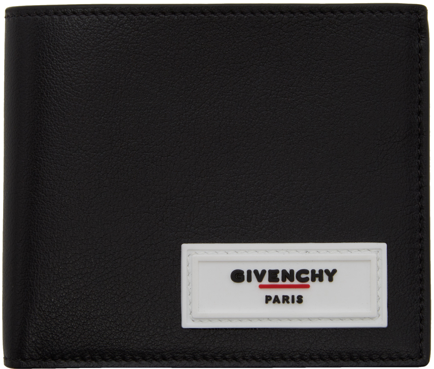 Givenchy Wallets Black Rubber Logo Wallet