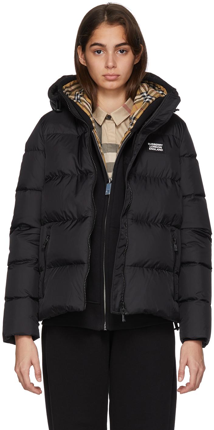 Burberry Jackets Black Monogram Puffer Down Leith Jacket