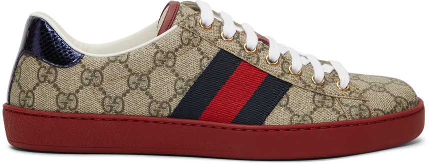 Gucci Sneakers Beige GG Supreme New Ace Sneakers