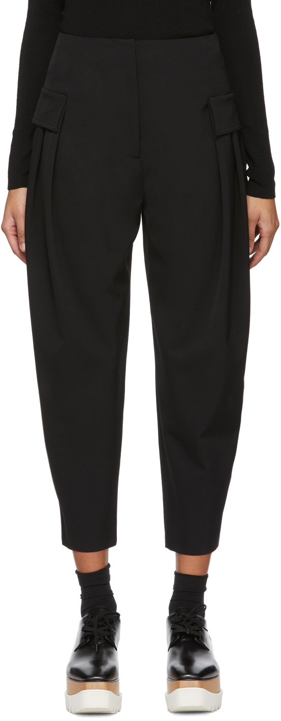 Stella Mccartney Pants Black Wool Stretch Cocoon Trouser