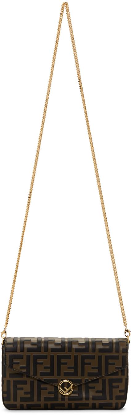 Fendi Shoulder Brown 'Forever Fendi' Envelope Bag