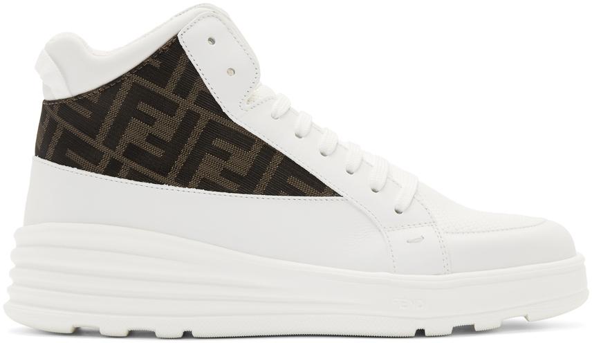 Fendi Sneakers White 'Forever Fendi' Hybrid High-Top Sneakers