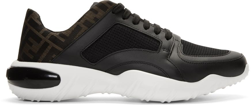 Fendi Sneakers Black Mesh 'Forever Fendi' Sneakers
