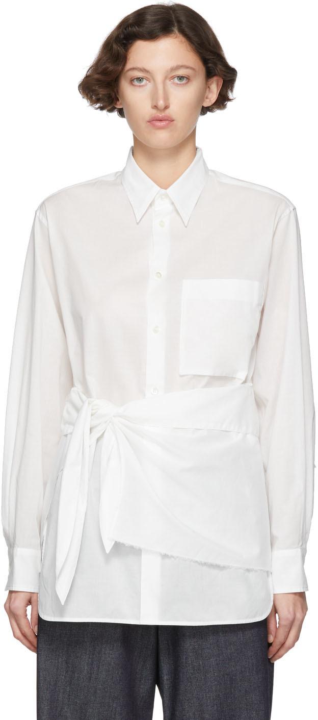 Y's T-shirts White K-Wrap Cloth Shirt