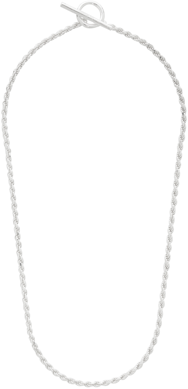 All Blues Silver Rope Chain Necklace