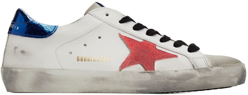 Golden Goose White & Pink Superstar Sneakers