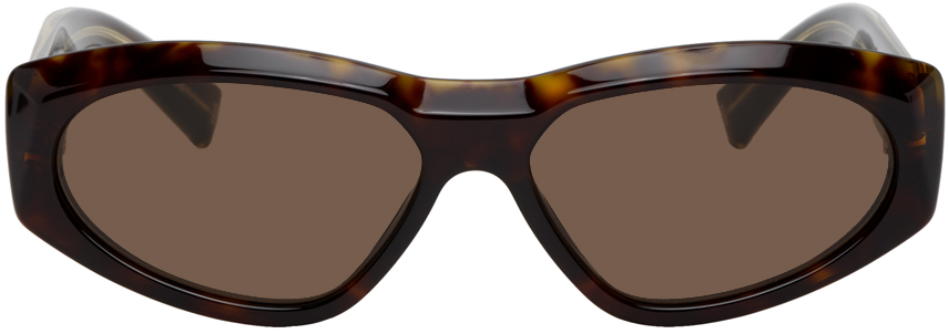 Givenchy Tortoiseshell Modified Oval Sunglasses