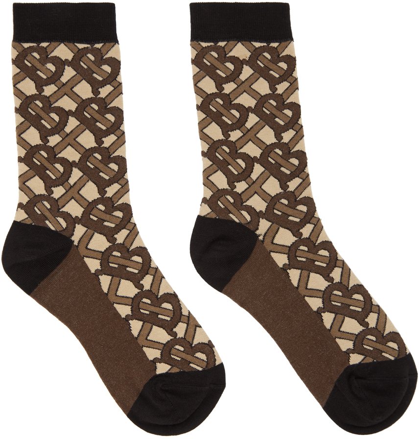 Burberry Brown Monogram Socks