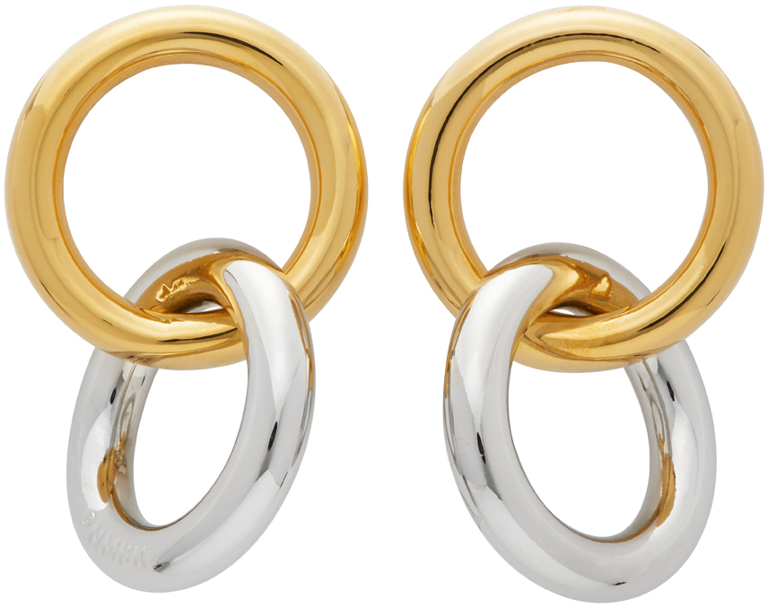 Numbering Gold & Silver #982 Hoop Earrings