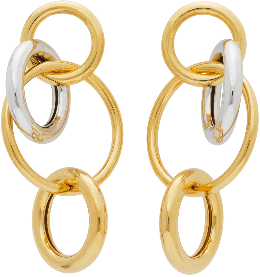 Numbering Gold & Silver #984 Hoop Earrings