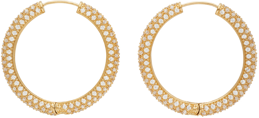 Numbering Gold Large #994 Hoop Earrings