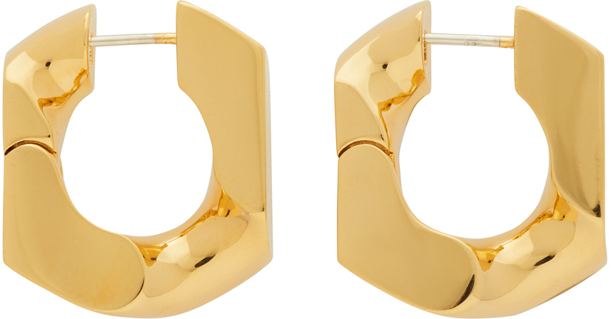 Numbering Gold #251 Earrings