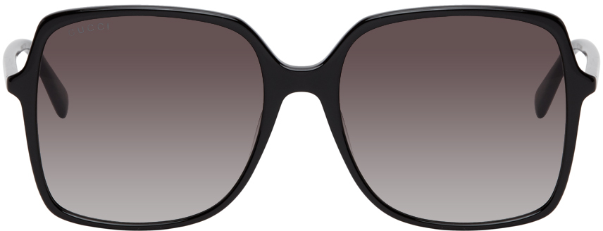 Gucci Black Thin Square Sunglasses