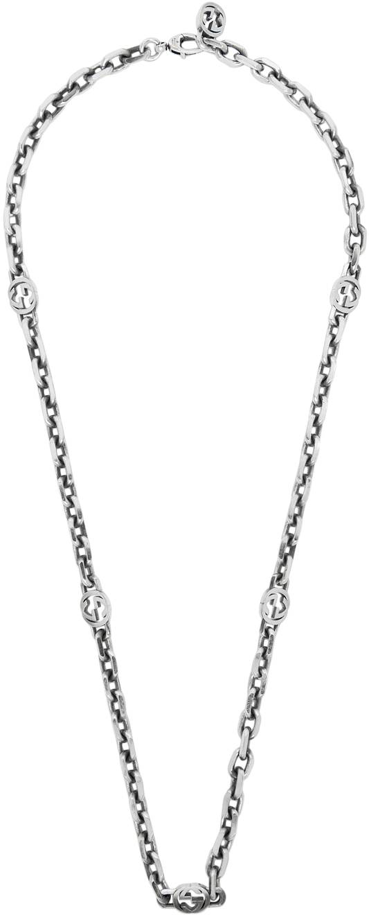 Gucci Silver Interlocking G Necklace
