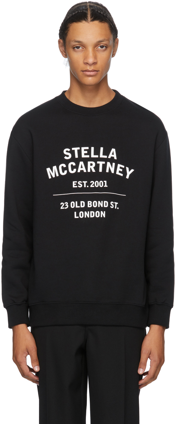 Stella McCartney Black '23 Old Bond Street' Sweatshirt