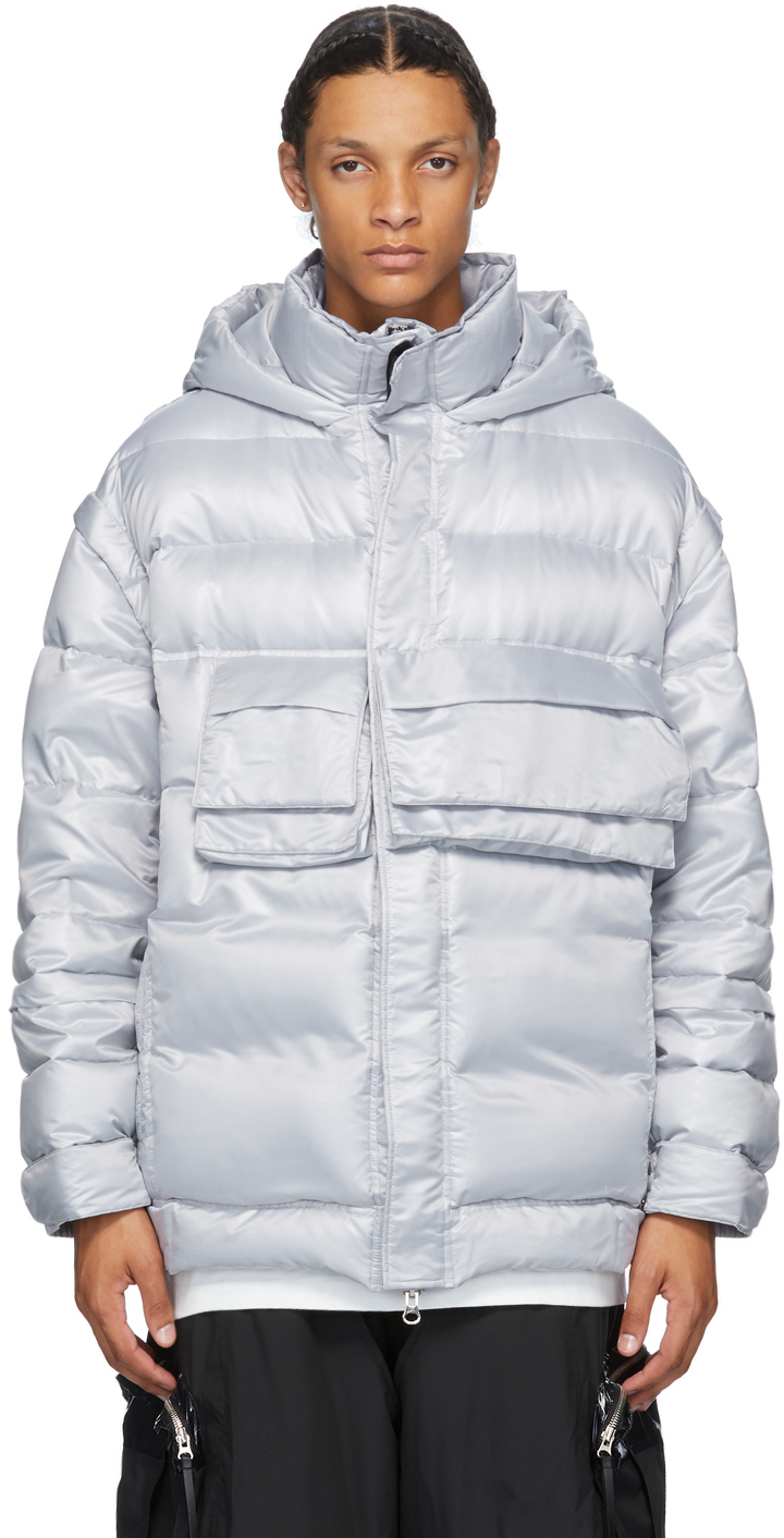 JERIH Silver Down Puffer Jacket