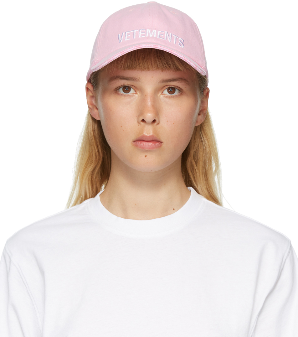 VETEMENTS Pink Logo Cap